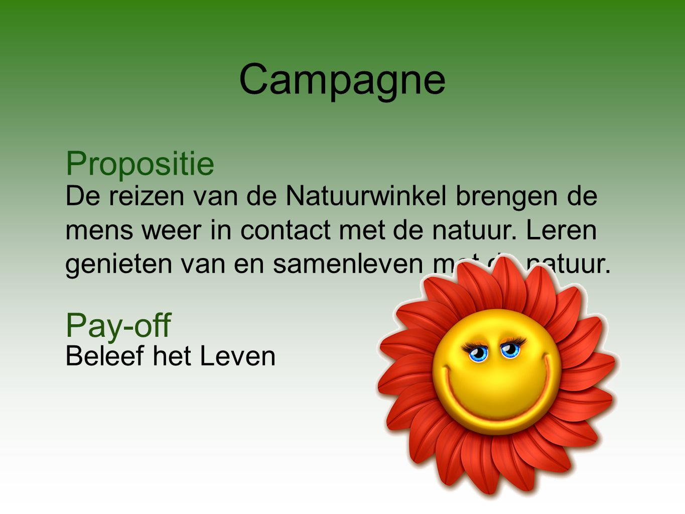 Campagne Propositie Pay-off