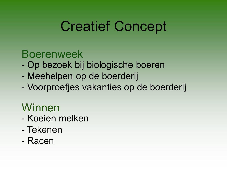 Creatief Concept Boerenweek Winnen - Op bezoek bij biologische boeren