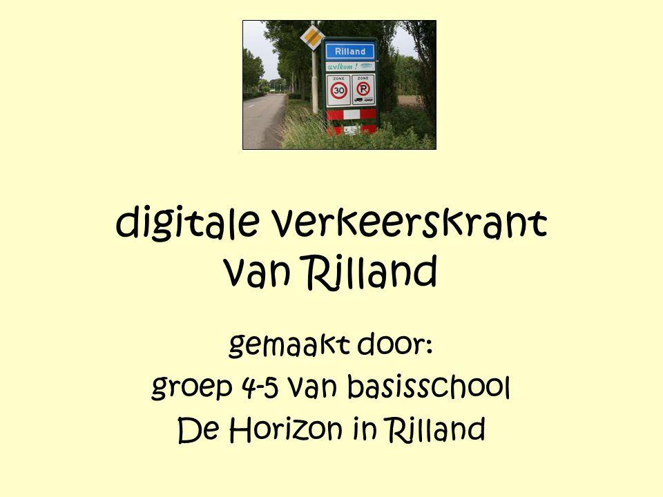 digitale verkeerskrant van Rilland