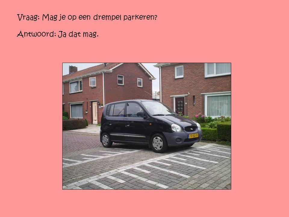 Vraag: Mag je op een drempel parkeren