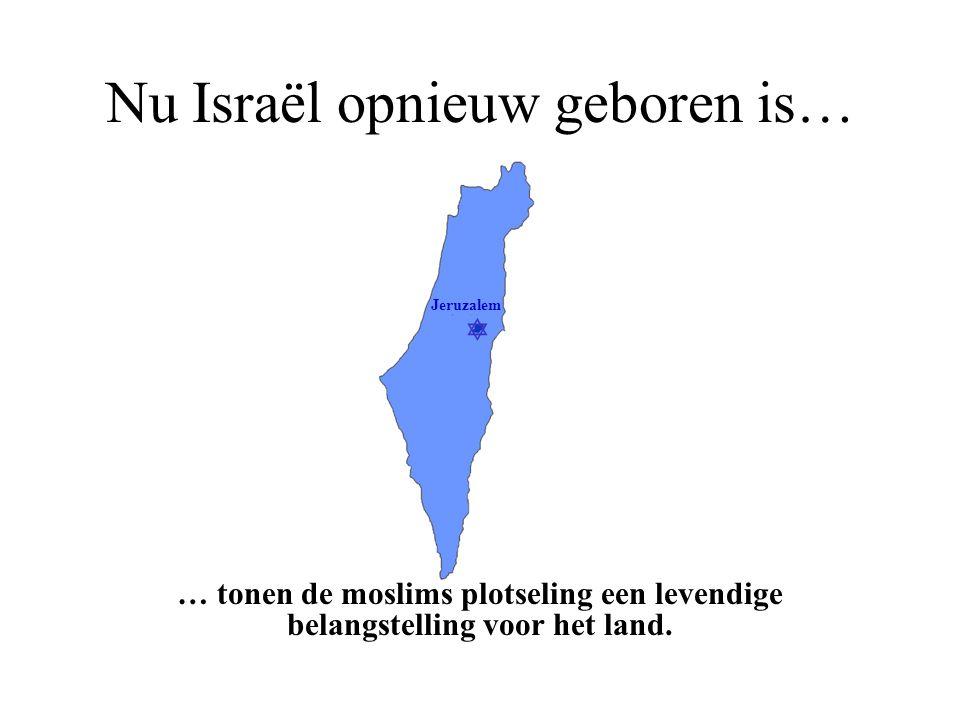 Nu Israël opnieuw geboren is…