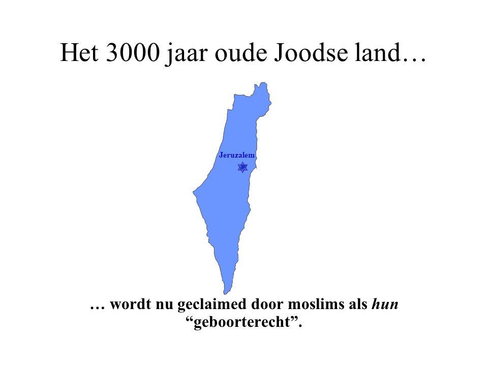 Het 3000 jaar oude Joodse land…