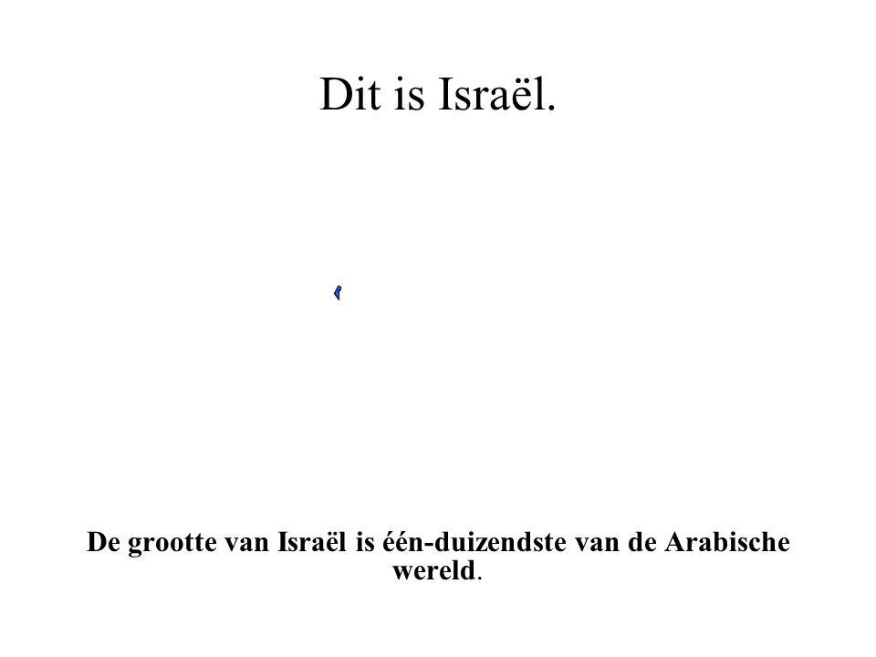 De grootte van Israël is één-duizendste van de Arabische wereld.