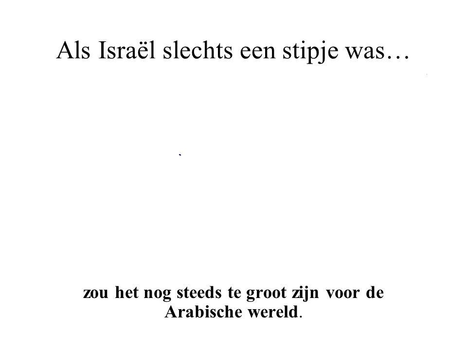 Als Israël slechts een stipje was…