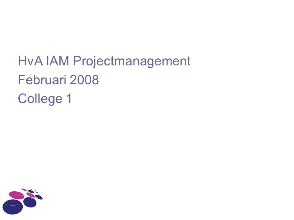 HvA IAM Projectmanagement