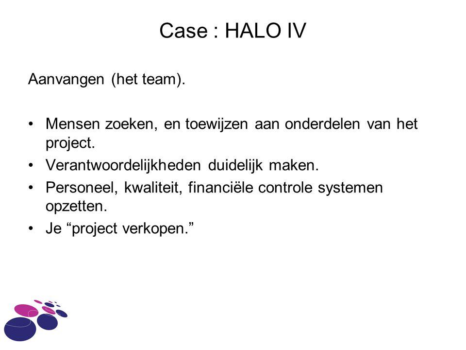 Case : HALO IV Aanvangen (het team).