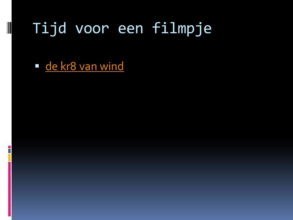 Tijd voor een filmpje de kr8 van wind