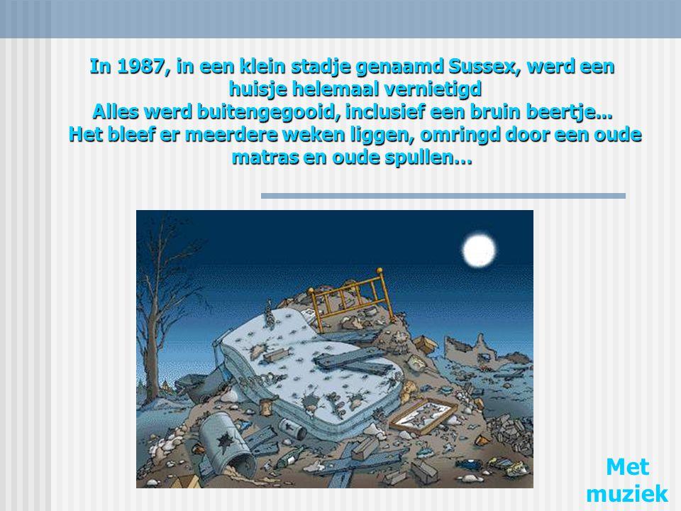 In 1987, in een klein stadje genaamd Sussex, werd een huisje helemaal vernietigd Alles werd buitengegooid, inclusief een bruin beertje... Het bleef er meerdere weken liggen, omringd door een oude matras en oude spullen…