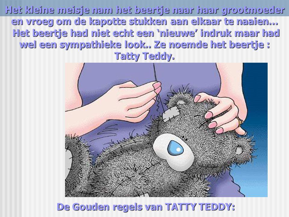 De Gouden regels van TATTY TEDDY: