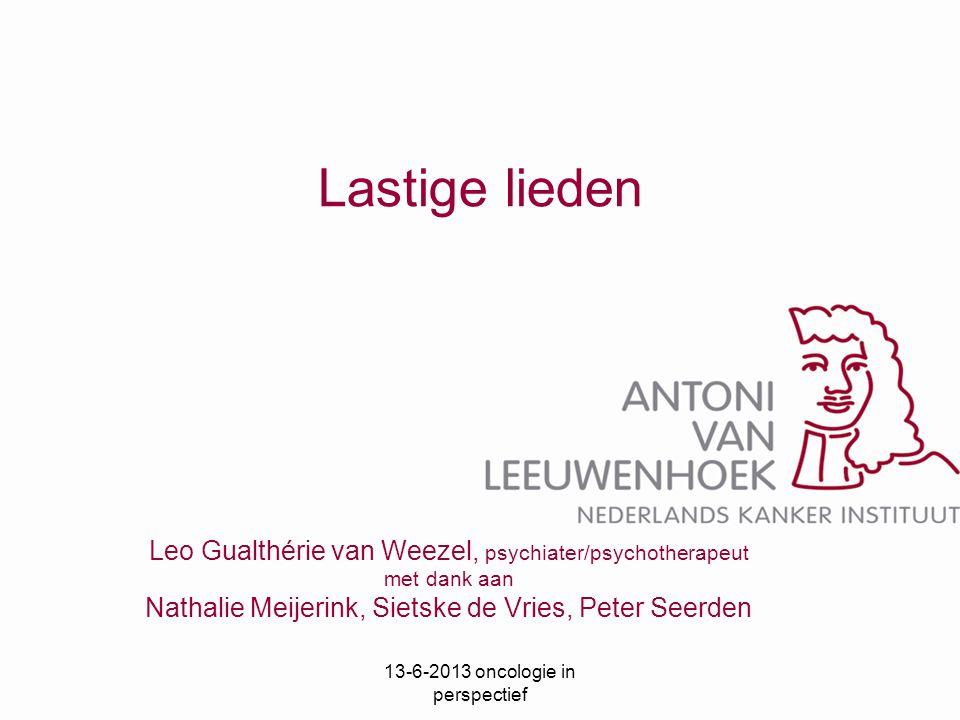Lastige lieden Leo Gualthérie van Weezel, psychiater/psychotherapeut