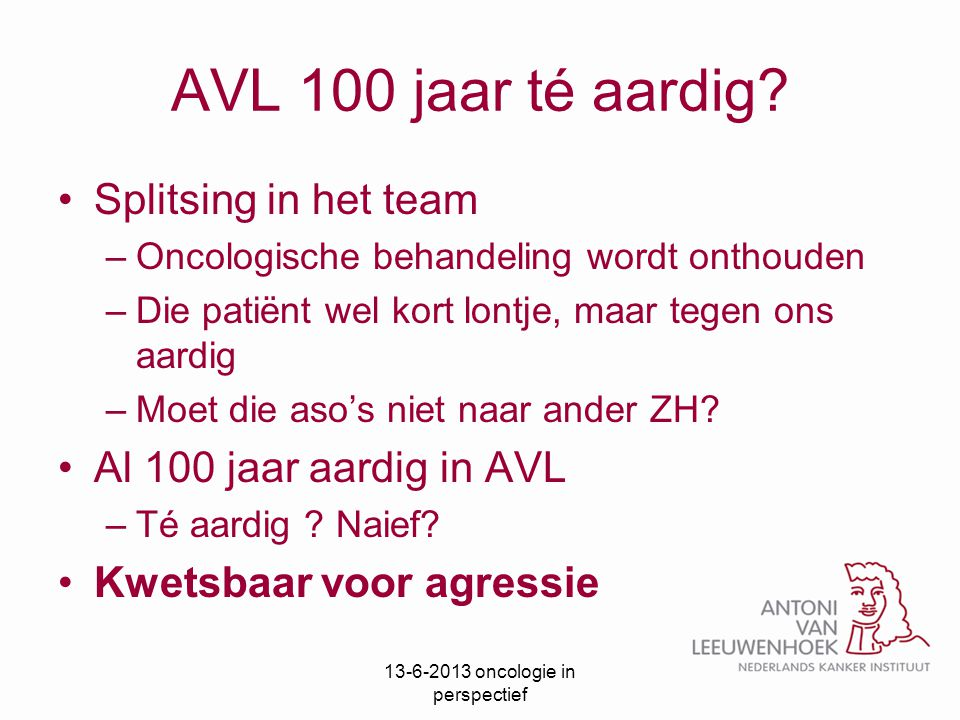 oncologie in perspectief