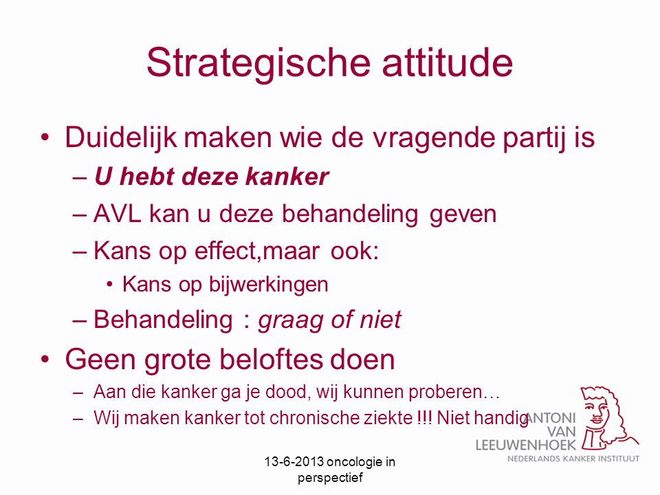 Strategische attitude