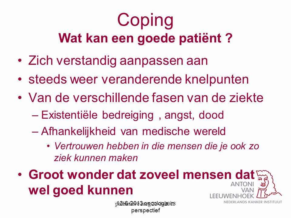 Coping Wat kan een goede patiënt