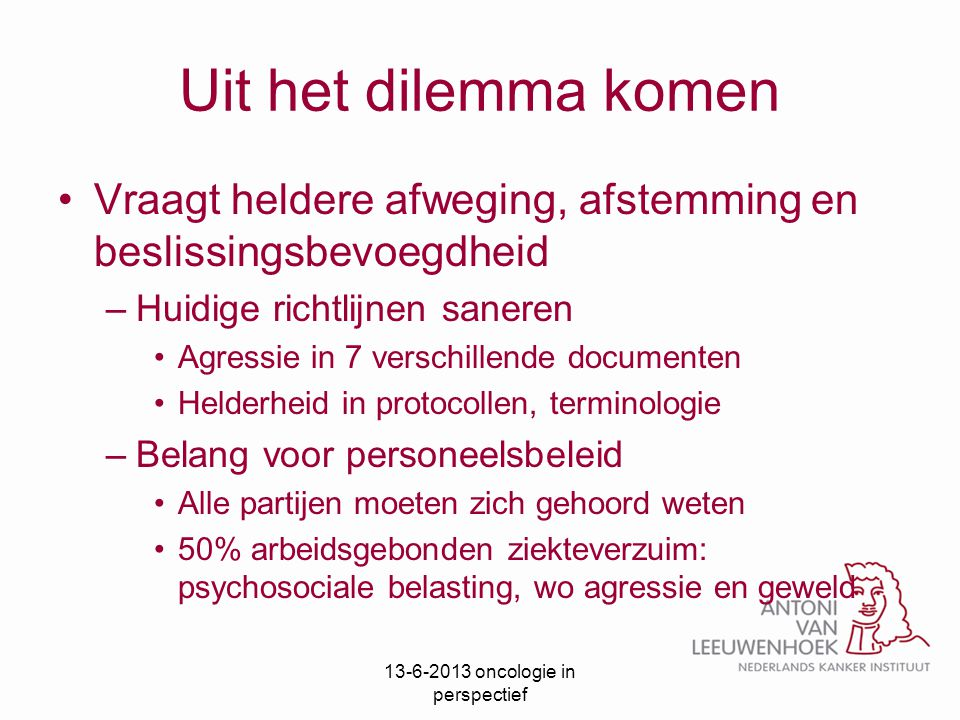 13-6-2013 oncologie in perspectief