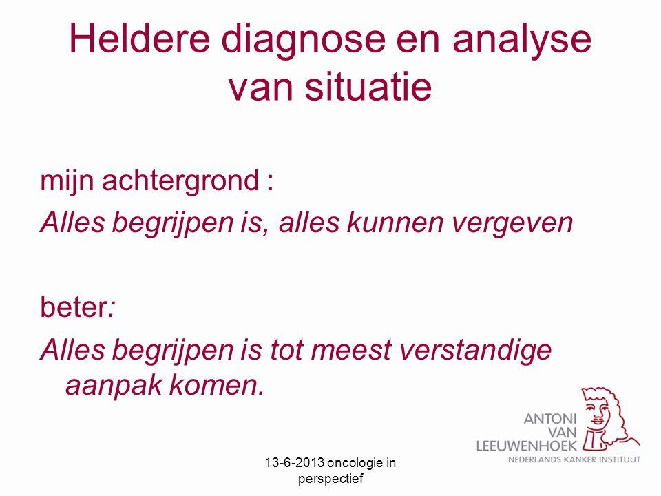 Heldere diagnose en analyse van situatie