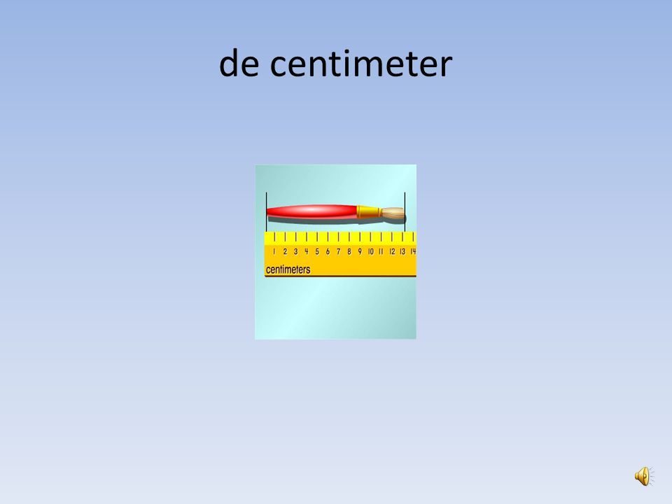 de centimeter