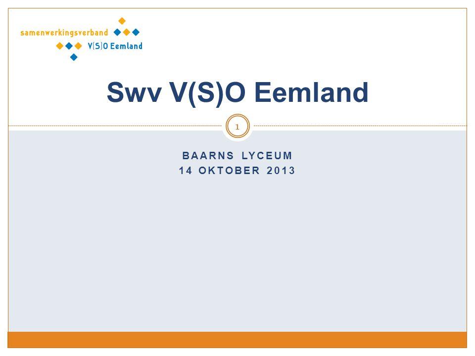 Swv V(S)O Eemland Baarns Lyceum 14 oktober 2013
