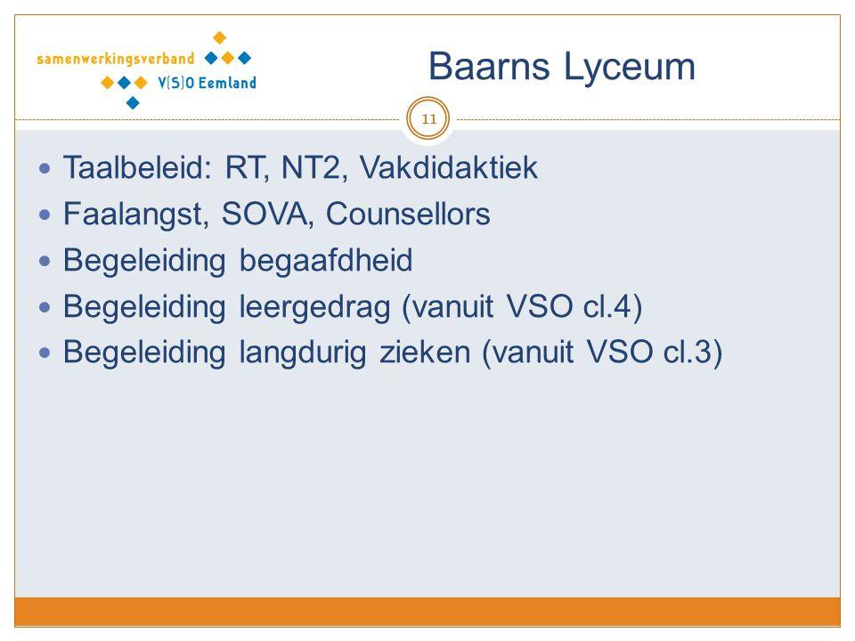 Baarns Lyceum Taalbeleid: RT, NT2, Vakdidaktiek