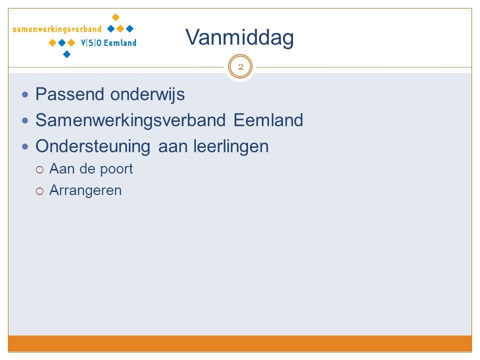 Vanmiddag Passend onderwijs Samenwerkingsverband Eemland