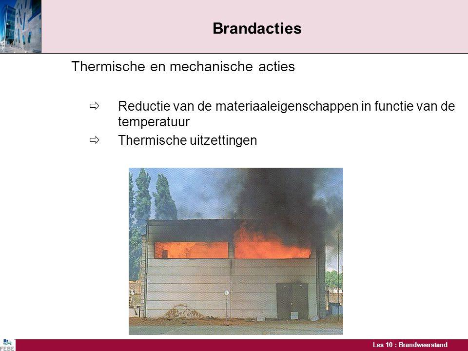 Brandacties Thermische en mechanische acties  Thermische uitzettingen