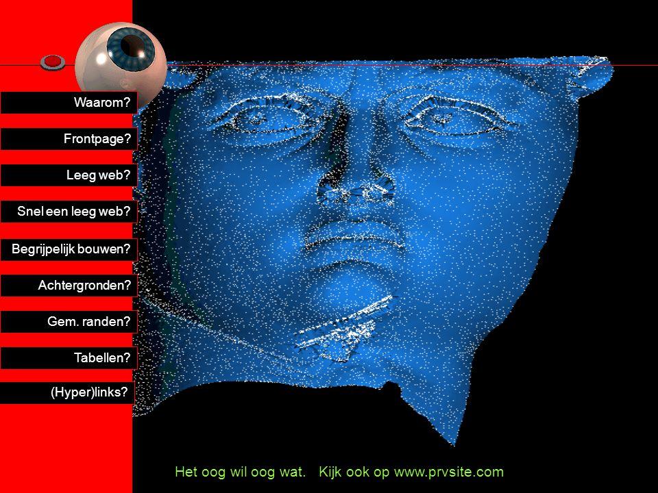 Het oog wil oog wat. Kijk ook op www.prvsite.com