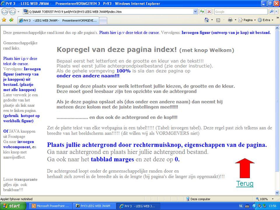 Terug Het oog wil oog wat. Kijk ook op www.prvsite.com