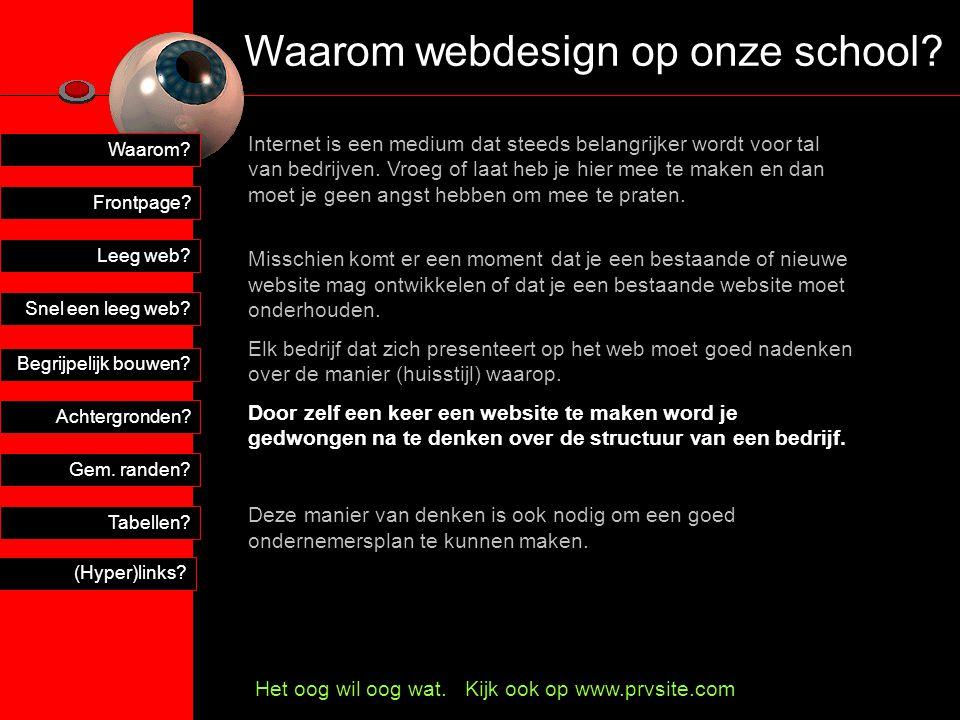 Waarom webdesign op onze school