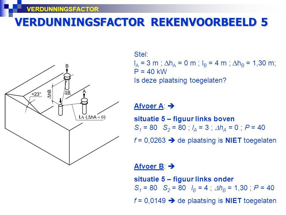 VERDUNNINGSFACTOR REKENVOORBEELD 5