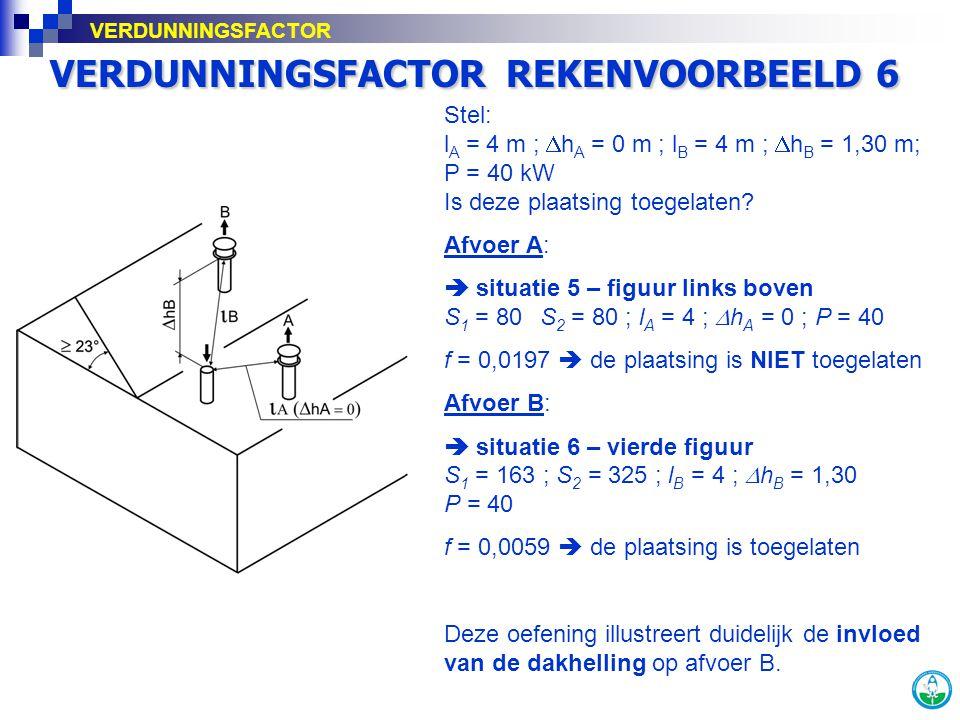 VERDUNNINGSFACTOR REKENVOORBEELD 6