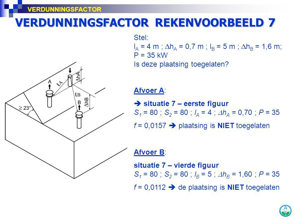 VERDUNNINGSFACTOR REKENVOORBEELD 7