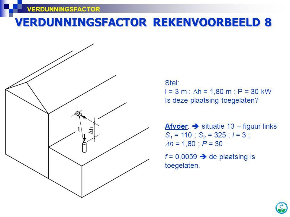 VERDUNNINGSFACTOR REKENVOORBEELD 8