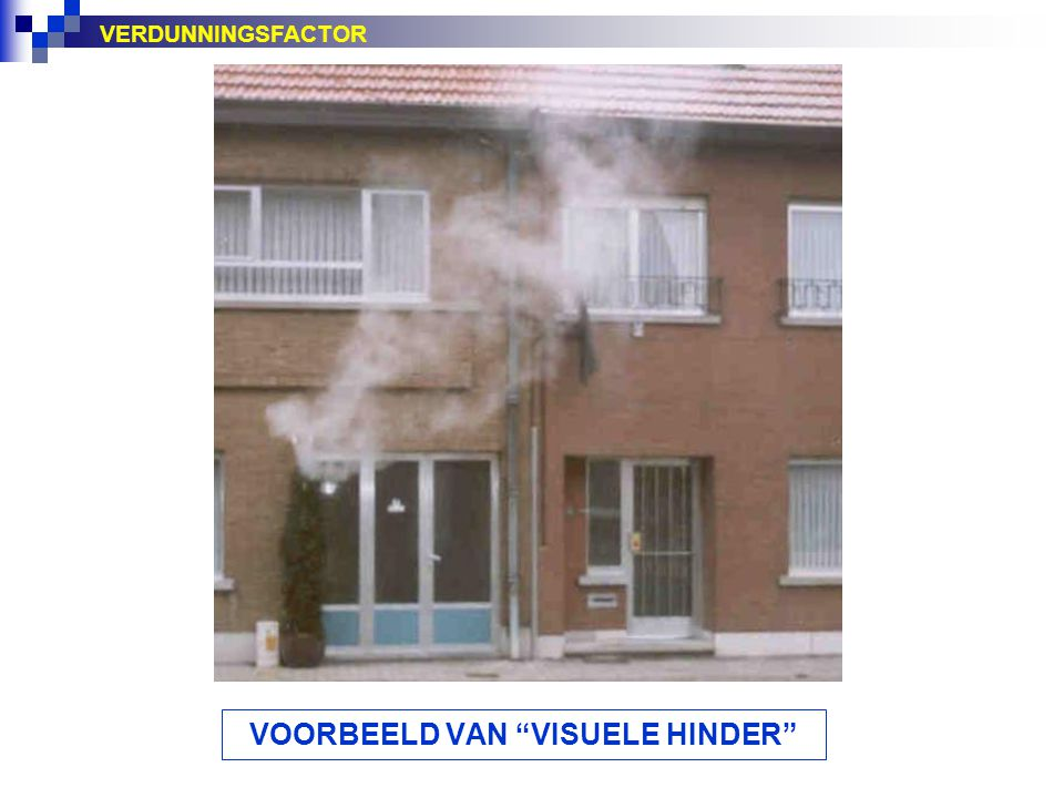VOORBEELD VAN VISUELE HINDER