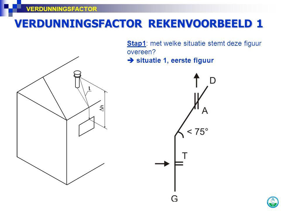 VERDUNNINGSFACTOR REKENVOORBEELD 1