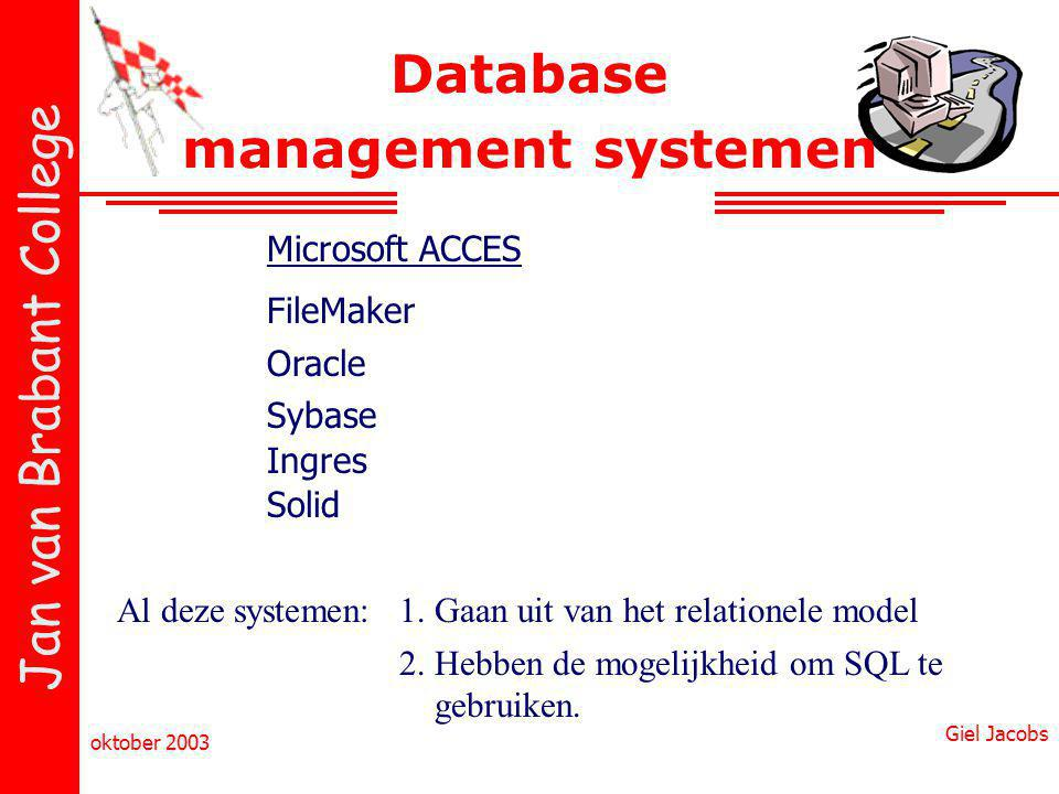 Database management systemen