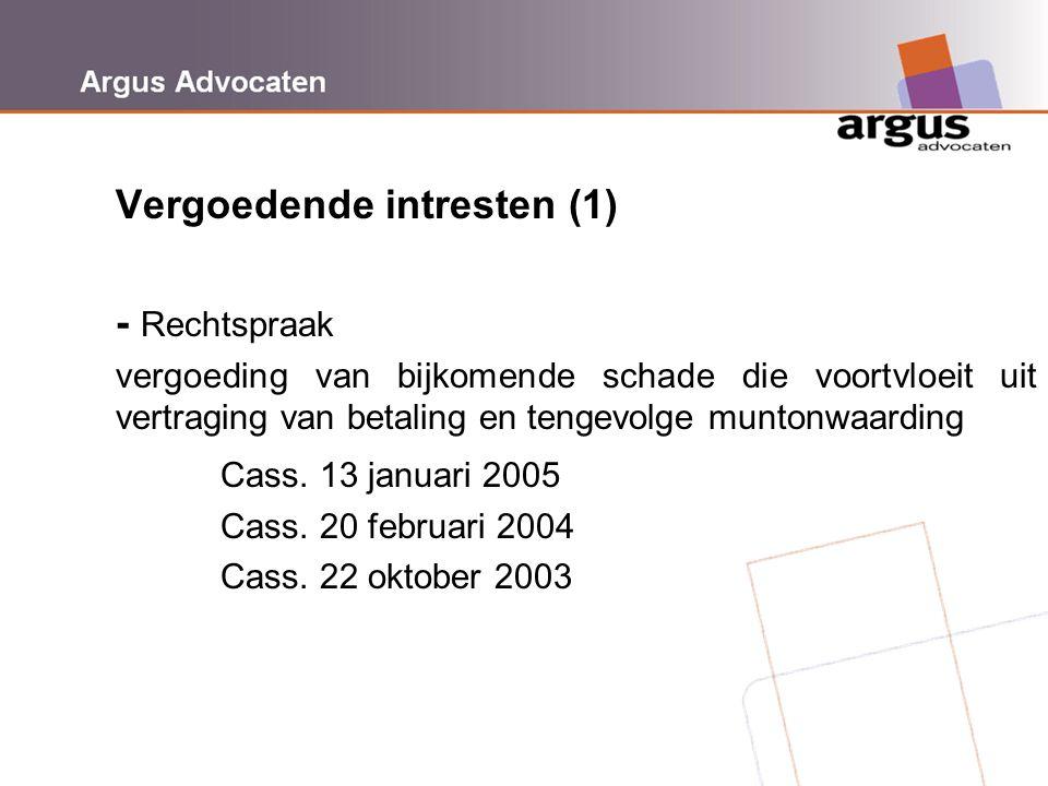Vergoedende intresten (1) - Rechtspraak