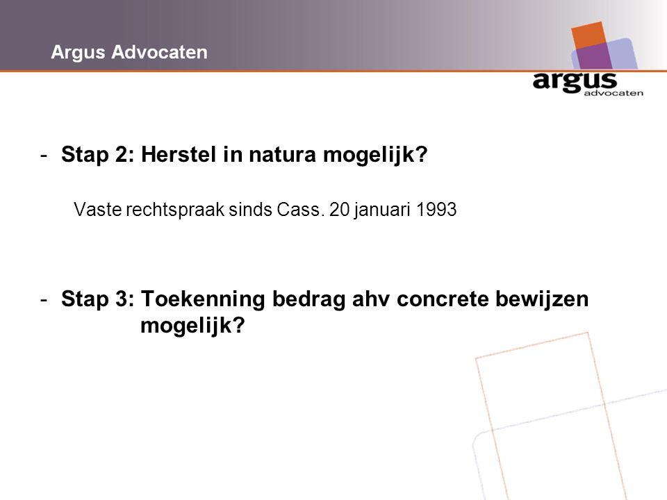 Stap 2: Herstel in natura mogelijk