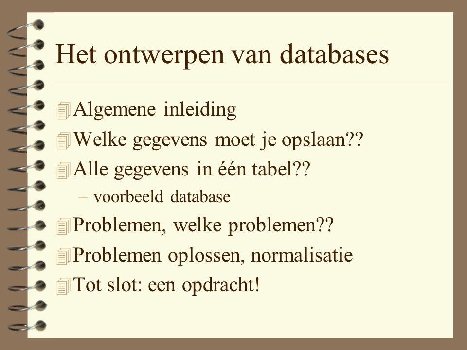 Het ontwerpen van databases
