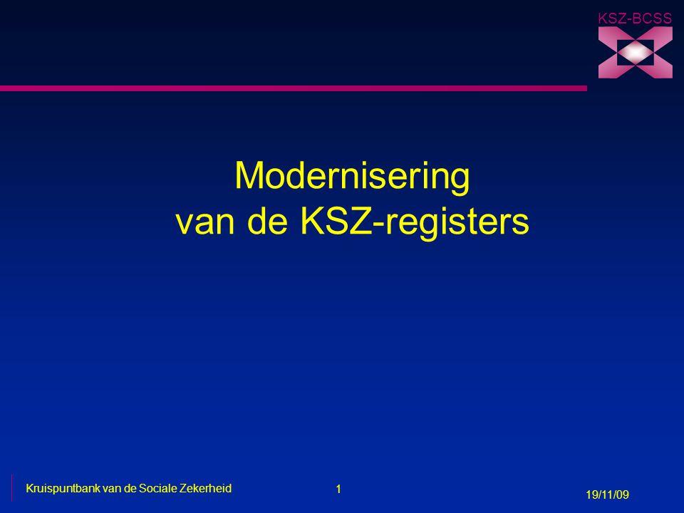 Modernisering van de KSZ-registers