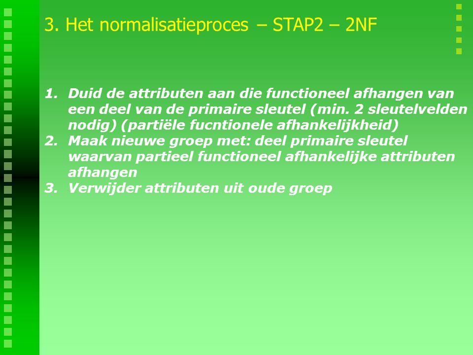 3. Het normalisatieproces – STAP2 – 2NF
