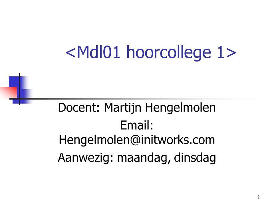 <Mdl01 hoorcollege 1>