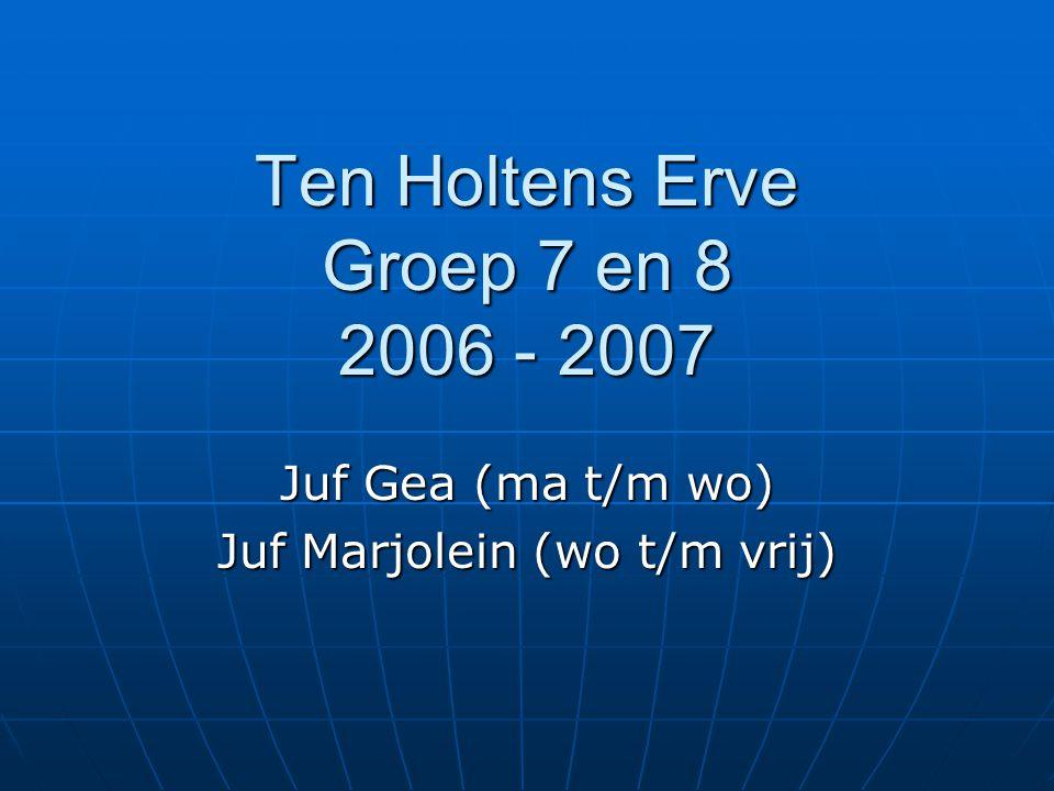 Ten Holtens Erve Groep 7 en 8 2006 - 2007