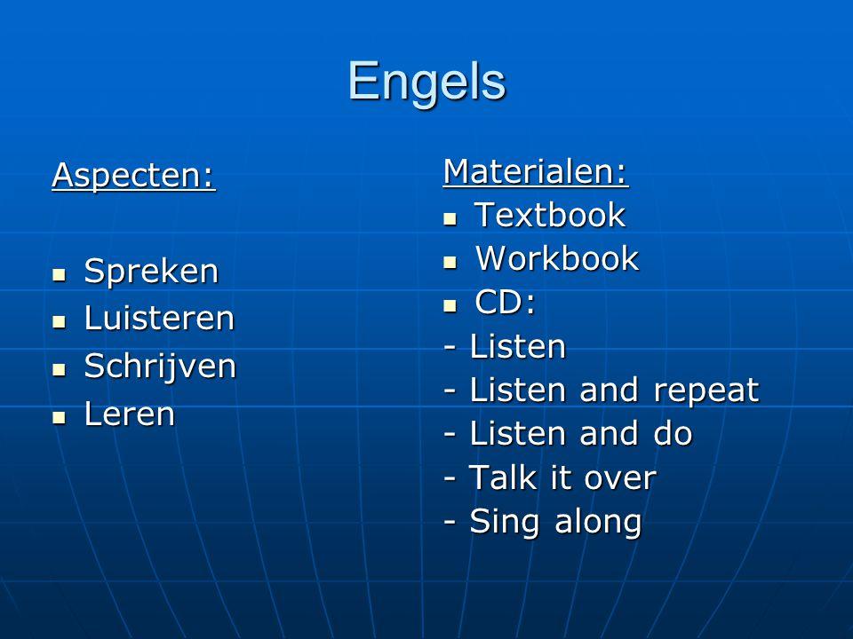 Engels Aspecten: Spreken Luisteren Schrijven Leren Materialen: