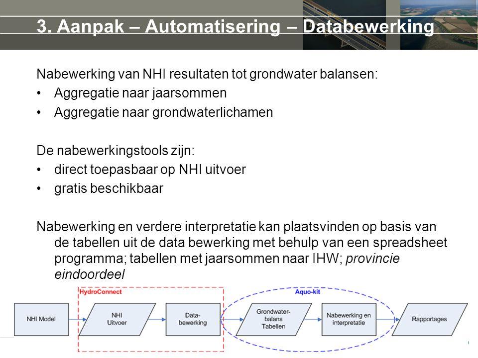 3. Aanpak – Automatisering – Databewerking