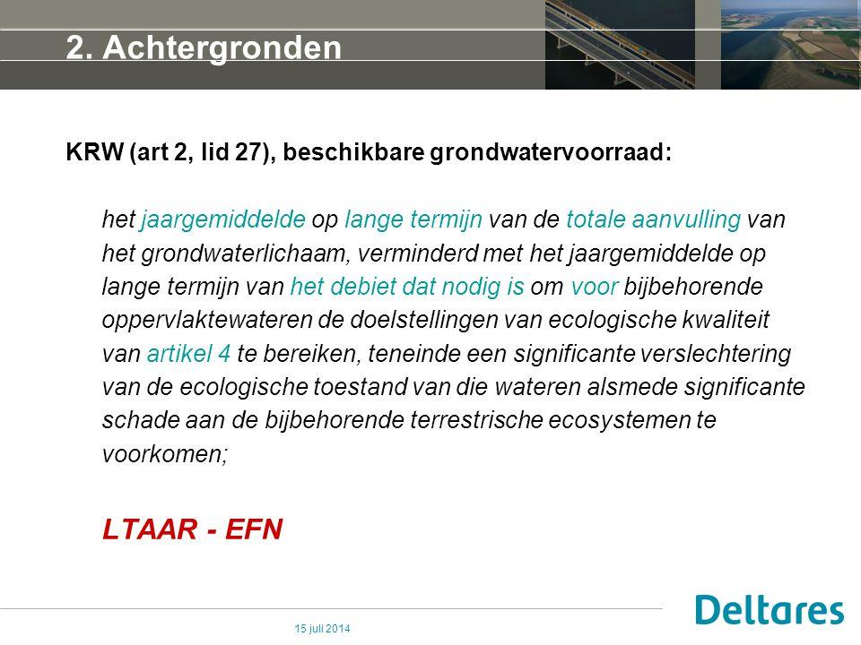 2. Achtergronden LTAAR - EFN