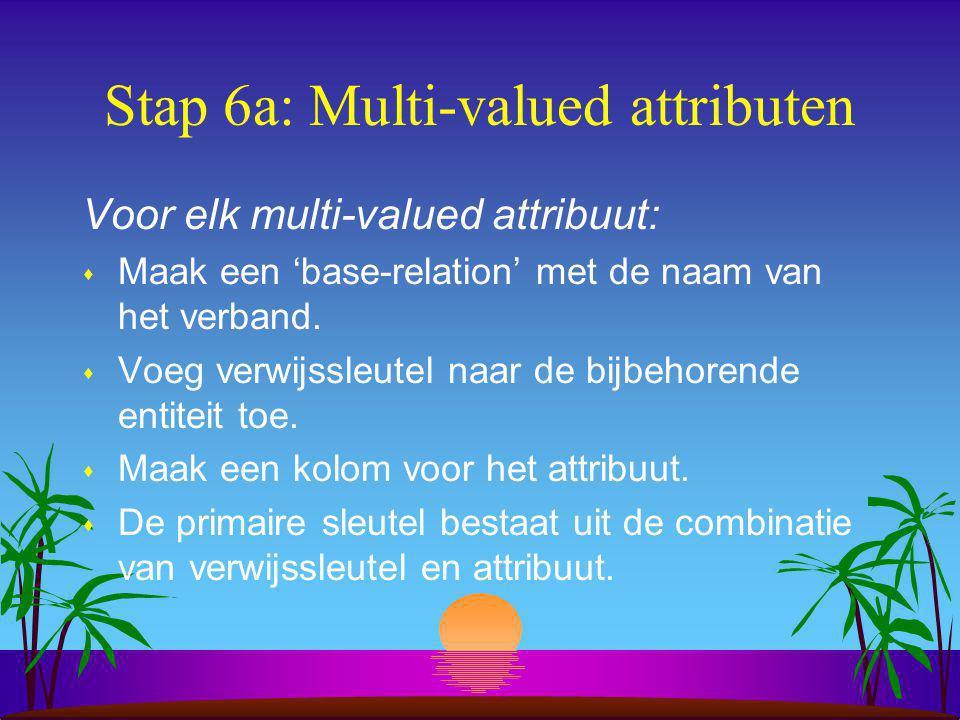 Stap 6a: Multi-valued attributen