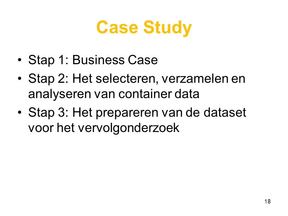 Case Study Stap 1: Business Case