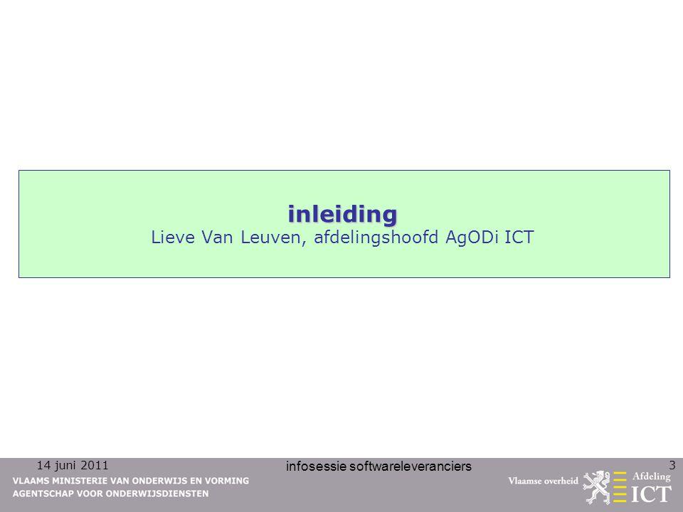 inleiding Lieve Van Leuven, afdelingshoofd AgODi ICT