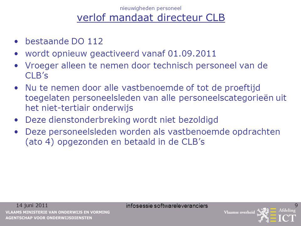 nieuwigheden personeel verlof mandaat directeur CLB