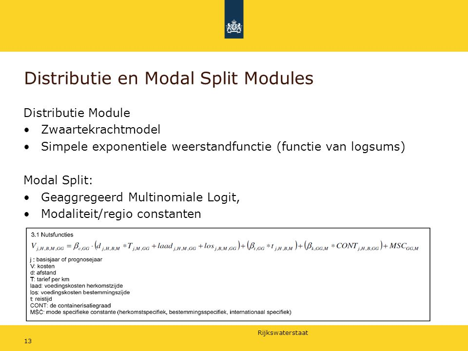 Distributie en Modal Split Modules