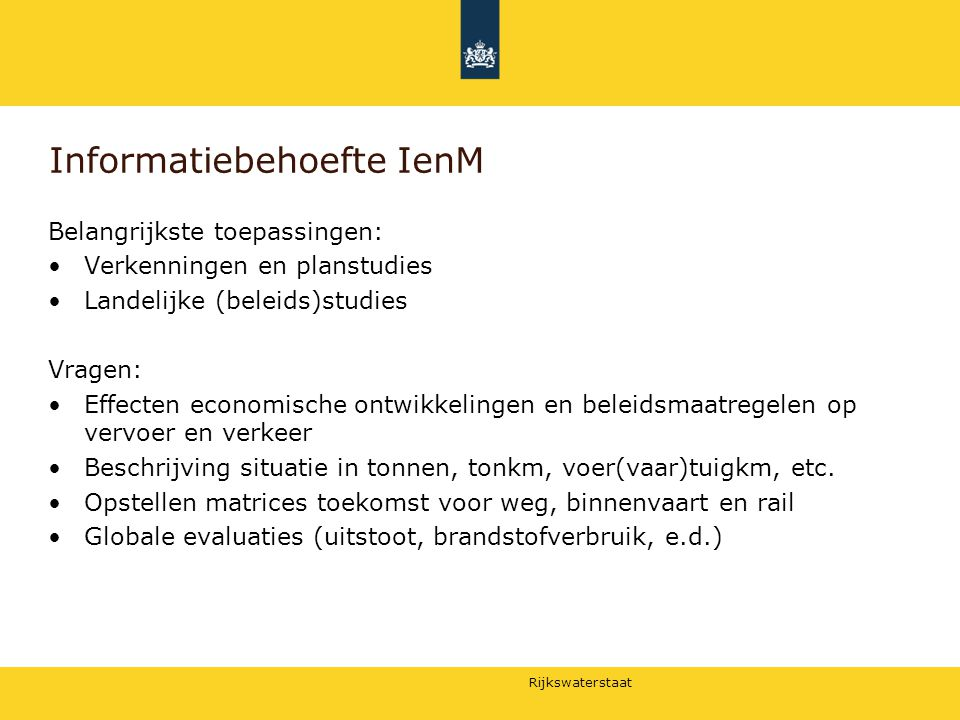 Informatiebehoefte IenM